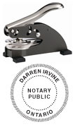 DS-158 DESK SEAL - DS-158 DESK SEAL ONTARIO NOTARY